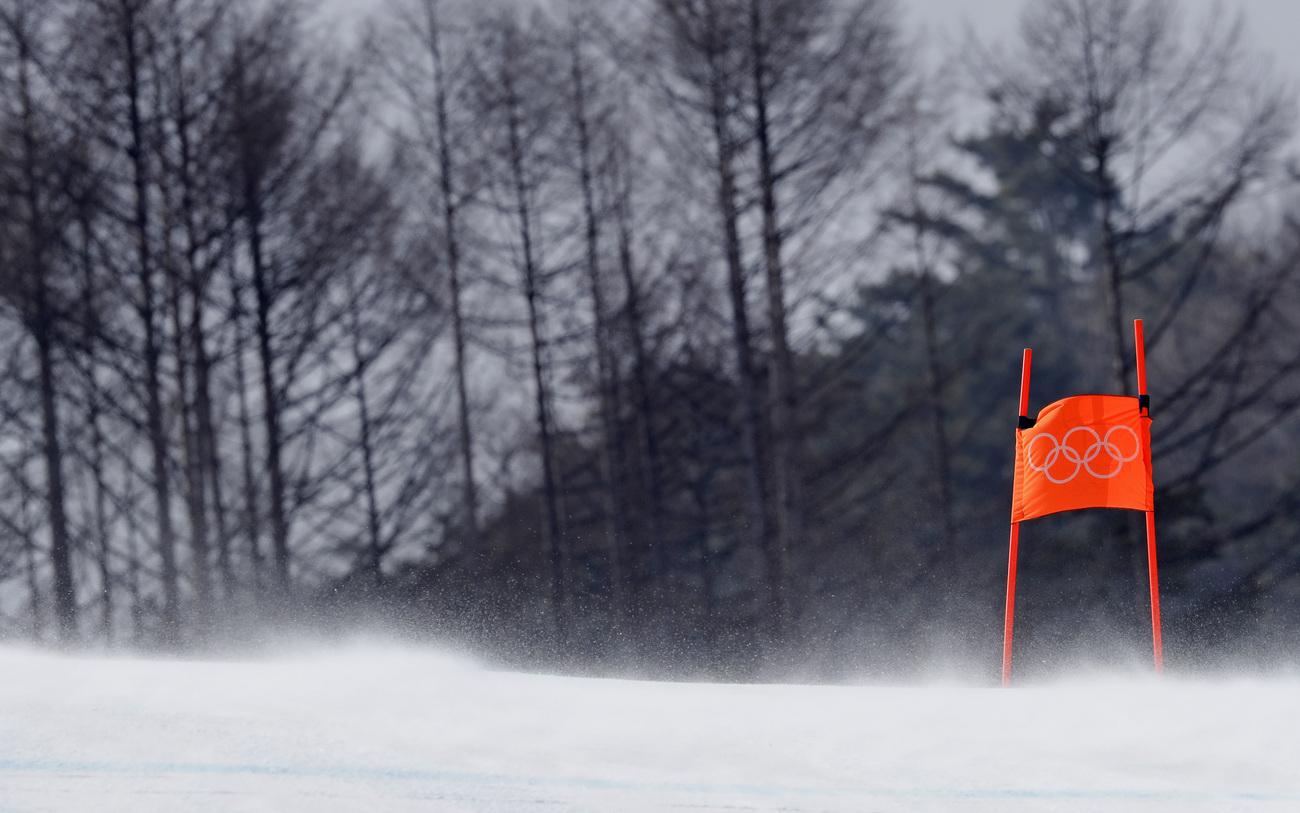 Le vent balaie le site alpin