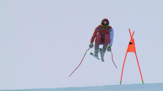 Pyeongchang(KR), ski alpin entrainement, descente de G.Roulin (SUI) [RTS]