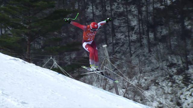 JO 2018 - Ski alpin, entrainement descente:  P.Kueng (SUI) [RTS]