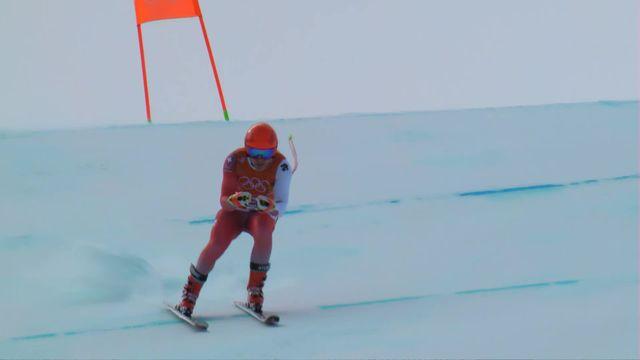 JO 2018 - Ski alpin, entrainement descente : M. Caviezel(SUI) [RTS]