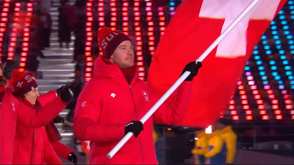 La délégation suisse fait son entrée dans le stade olympique / Jeux olympiques / 00:51 / le 9 février 2018