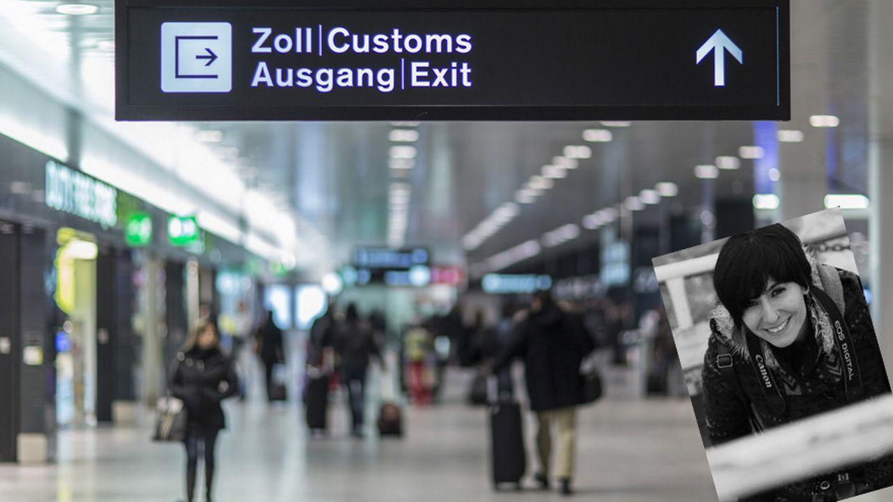 La journaliste Hülya Emeç est détenue depuis 25 jours à l'aéroport de Zurich. [Gaëtan Bally - Keystone]