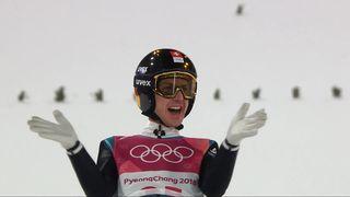 Saut à ski, 2e manche: 104.5 mètres pour Simon Ammann (SUI) [RTS]