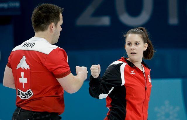 Rios et Perret ont battu la Russie de justesse pour se qualifier pour les demi-finales. [Keystone]
