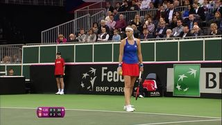 1-4 Fed Cup, P. Kvitova (CZE) - B. Bencic (SUI) 6-2 [RTS]