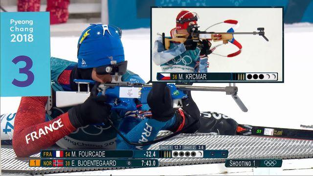 Biathlon, sprint 10km messieurs:  désillusion pour Martin Fourcade (FRA) [RTS]