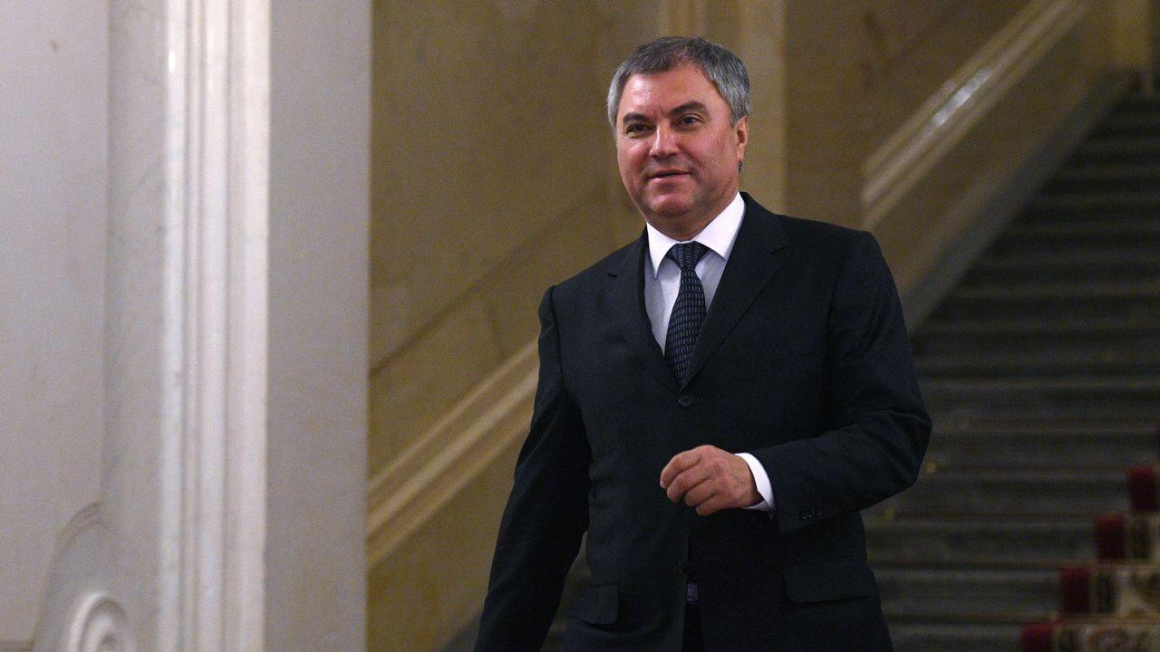 Depuis 2016, Viatcheslav Volodine est le président de la Douma.  [Valeriy Melnikov - Sputnik/AFP]