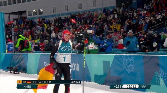 10 km poursuite dames, Laura Dahlmeier (GER) championne olympique! [RTS]