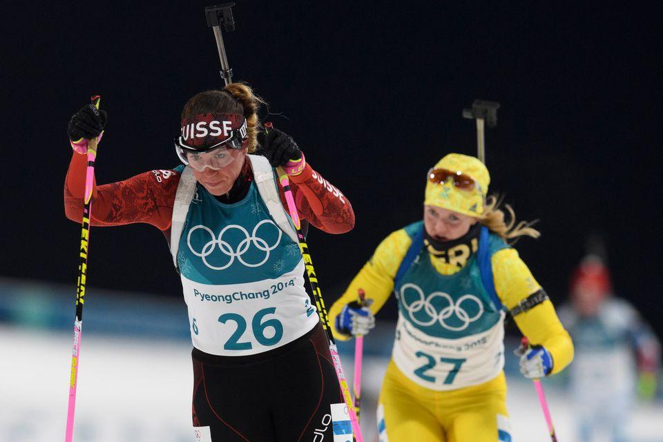 Lena Häcki (26) a été très rapide lors de la poursuite. [Gian Ehrenzeller - Keystone]