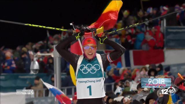 JO - Biathlon dames: Lena Häcki prend la 8e place [RTS]