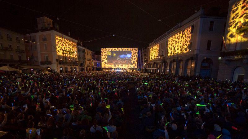 La Piazza Grande durant la 70e édition du festival de film de Locarno en  2017.  Urs Flueeler - EPA Keystone  05a885f2fd3