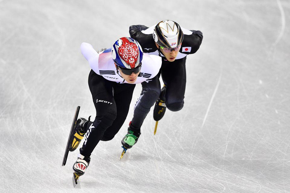 Kei Saito (à droite) a quitté le village olympique. [Mladen Antonov - AFP]