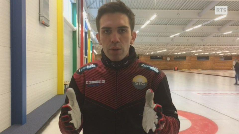 Peter de Cruz - Comment expliquez-vous le bon niveau du curling suisse? [RTS]
