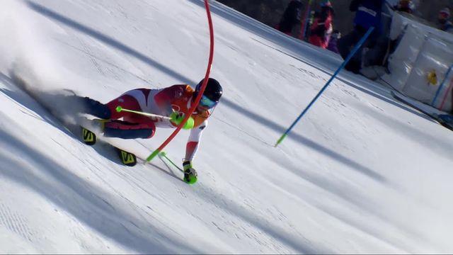 Combiné alpin hommes, slalom: Luca Aerni (SUI) [RTS]