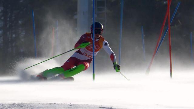 Combiné alpin hommes, slalom: Carlo Janka (SUI) [RTS]