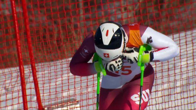 Combiné alpin hommes, slalom: Justin Murisier (SUI) part à la faute [RTS]