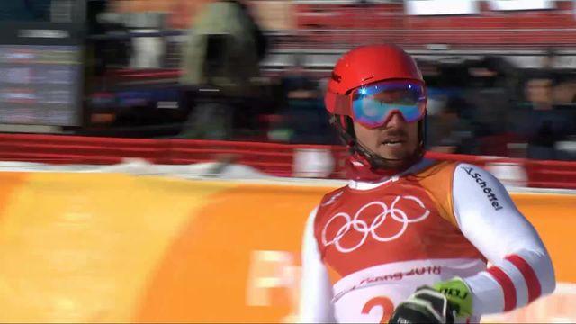 Combiné alpin hommes, slalom: Marcel Hirscher (AUT) remporte son 1er titre olympique ! [RTS]