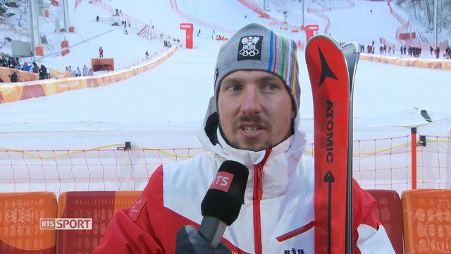 Combiné alpin hommes, slalom: l'interview du vainqueur Marcel Hirscher (AUT) [RTS]