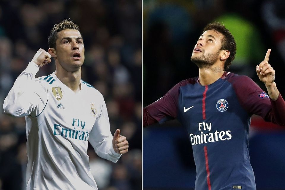Qui de Cristiano Ronaldo ou Neymar verra les quarts de finale? [E.Naranjo/I.Langsdon - Keystone]