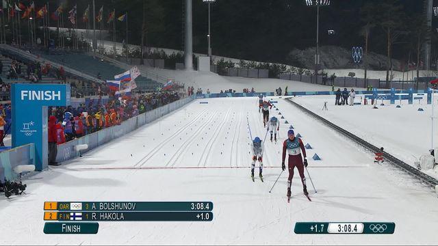 Sprint classique, 1-4 de finales hommes: Élimination de Jovian Hediger (SUI) qui finit 4e [RTS]