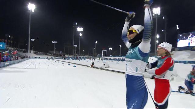 Sprint classique, finale dames: Stina Nilsson (SWE) est championne Olympique [RTS]