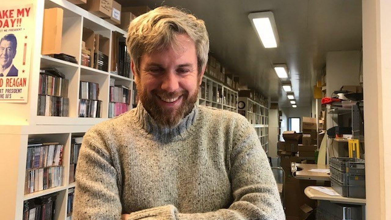 Christian Wicky, directeur de la société de distribution de musique Irascible. [Estelle Braconnier - RTS]