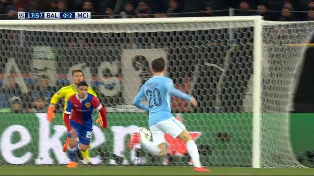1-8e de finale, FC Bâle – Manchester City (0-2): 18e Bernardo Silva [RTS]