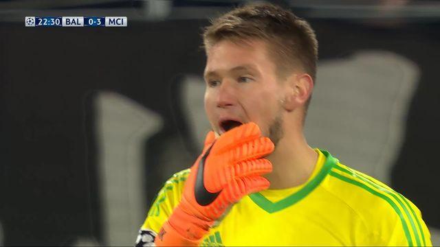 1-8e de finale, FC Bâle – Manchester City (0-3): 23e Agüero [RTS]