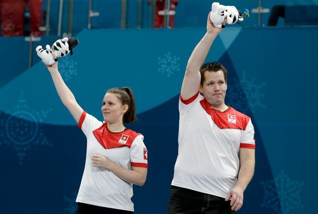 Le duo helvétique a rapidement été distancé par les Canadiens. [Natacha Pisarenko - Keystone]