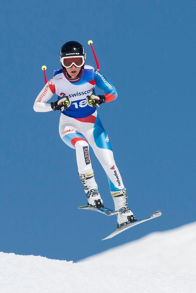 Coupe du monde, Combiné alpin, super G dames, Crans Montana [Jean-Christophe Bott - Keystone]