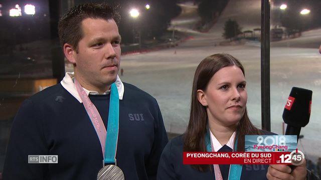 JO - Curling mixte: entretien avec Martin Rios et Jenny Perret [RTS]
