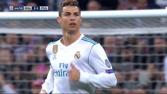 1-8e de finale, Real Madrid – Paris Saint-Germain (1-1): 45e Cristiano Ronaldo [RTS]