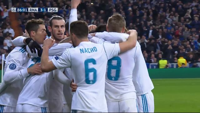 1-8e de finale, Real Madrid – Paris Saint-Germain (3-1): 86e Marcelo [RTS]