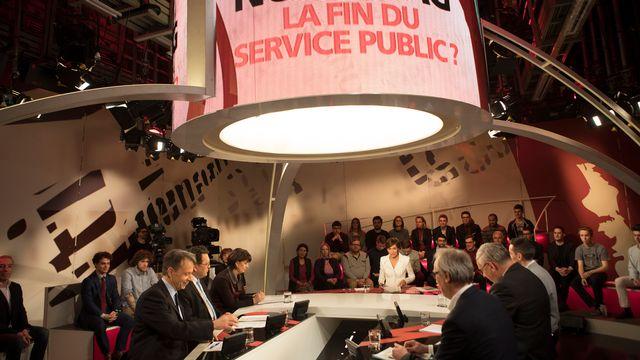 Grand débat en direct sur l'initiative No Billag le mercredi 14 février 2018 sur RTS Un. [Philippe Christin - RTS]