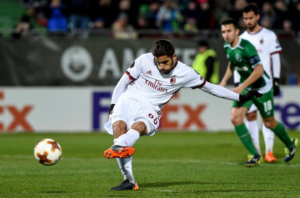 Rodriguez a inscrit le deuxième but milanais sur penalty. [Borislav Troshev - Keystone]