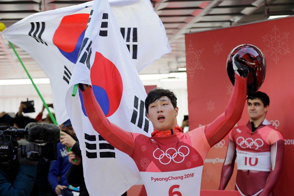 Yun a apporté un nouveau titre olympique au pays organisateur des joutes olympiques. [Wong Maye-E - Keystone]