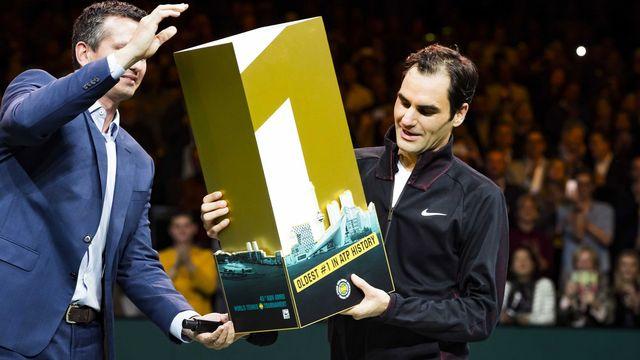 Federer a accompli l'un des plus grands succès de sa carrière aux Pays-Bas. [Koen Suyk - Keystone]