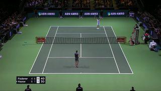 Résumé du match Federer - Haase [RTS]