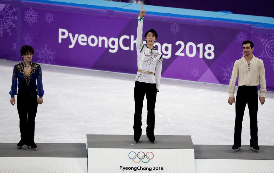 Yuzuru Hanyu est parvenu à conserver son titre olympique décroché à Sotchi. [Julie Jacobson - Keystone]