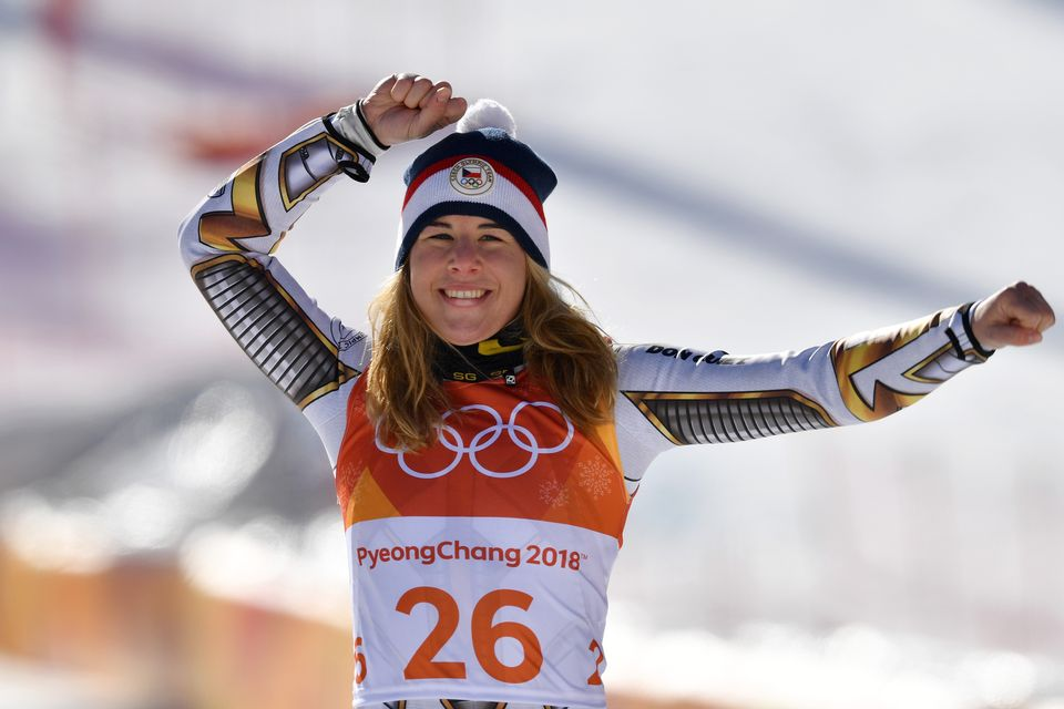 L'exploit d'Ester Ledecka restera dans les annales des Jeux d'hiver. [Frank Hoermann - AFP]