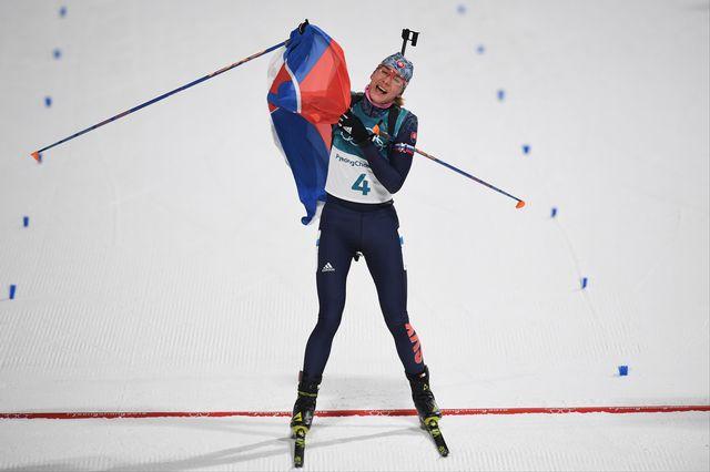 Trois médailles en 5 jours pour la Slovaque Anastasiya Kuzmina. [Franck Fife - AFP]