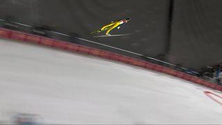 Finale messieurs, 1er saut: Gregor Deschwanden (SUI) [RTS]