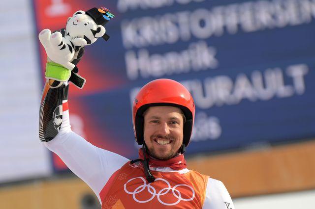 Marcel Hirscher pourrait réaliser un triplé historique en ski alpin. [Martin Bernetti - AFP]
