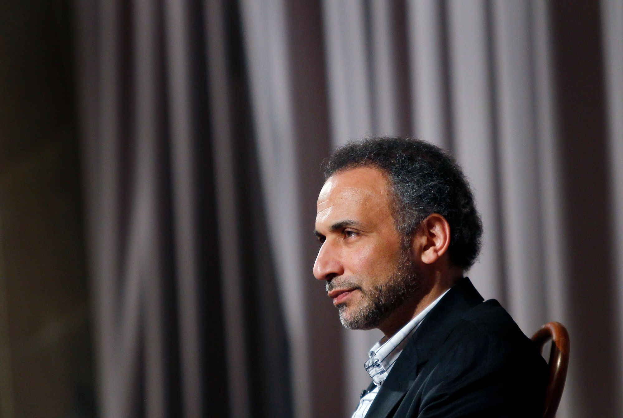 L'islamologue Tariq Ramadan, photographié à New York.
