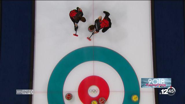 JO 2018 - Curling: les deux formations ont affronté le Canada [RTS]