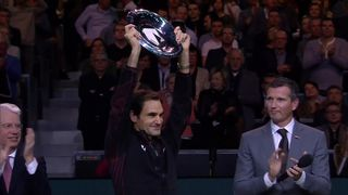 Finale, R. Federer (SUI) bat G. Dimitrov (BUL) 6-2, 6-2: la réaction du Bâlois après son 97e titre [RTS]