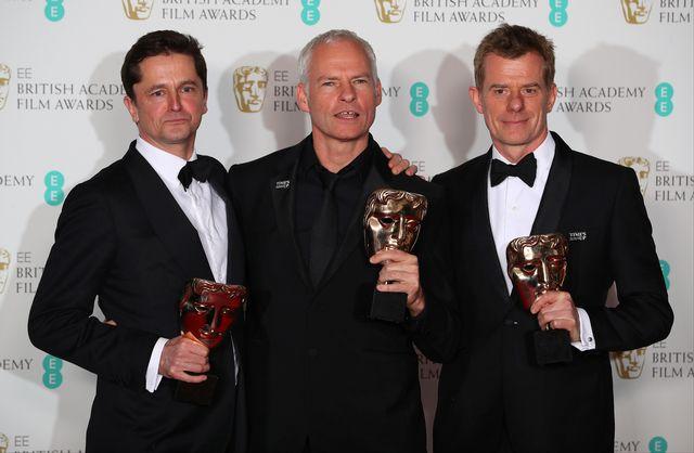"""Le film """"Three Billboards: les panneaux de la vengeance"""" a remporté en tout cinq récompenses lors des Bafta, dont celui du meilleur film et de la meilleure actrice à Frances McDormand. [Hannah McKay - Keystone]"""