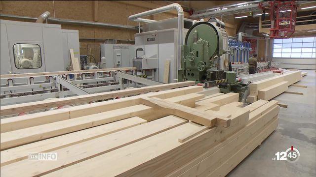 Le bois est en plein essor en Suisse [RTS]