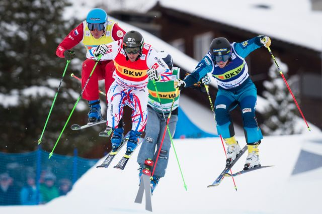 Ski alpin, coupe du monde, ski cross, Sunny Valley [Gian Ehrenzeller - Keystone ]