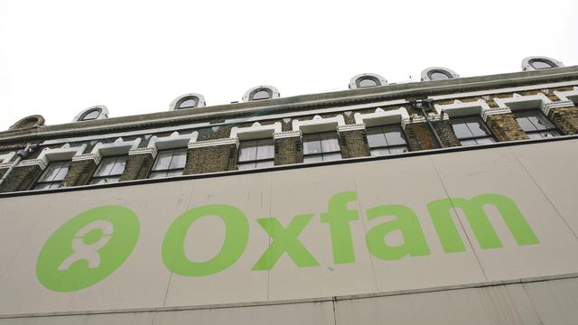 Le logo de l'ONG Oxfam sur un bâtiment à Londres. [Simon Newman - Reuters]